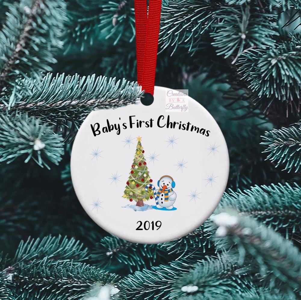 Baby's 1st Christmas - Ceramic Ornament