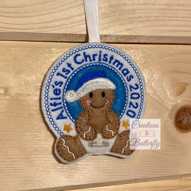 Personalised Baby's 1st Christmas Ginger