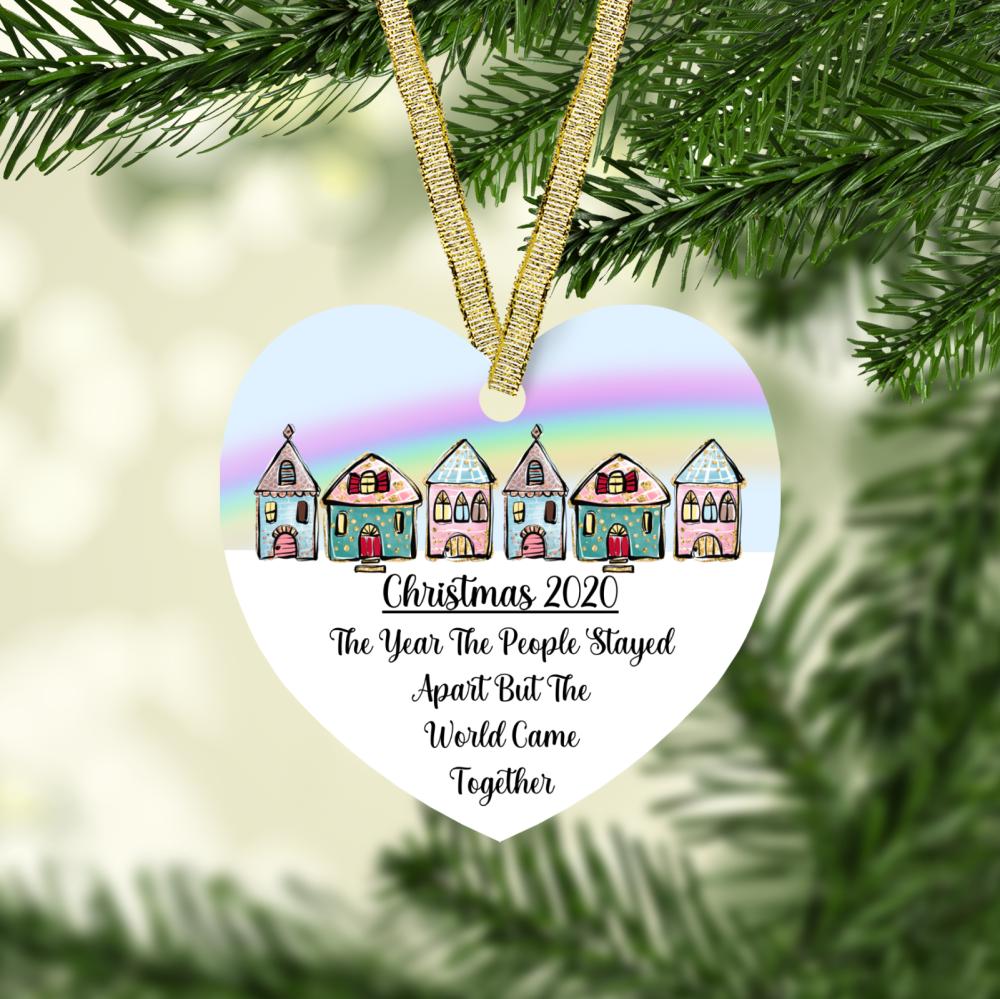 Christmas 2020 - Heart Shape Ceramic Ornament