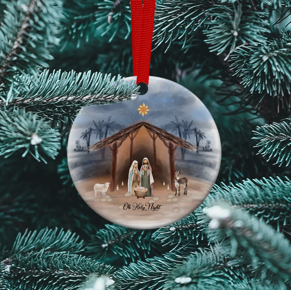 Oh Holy Night - Ceramic Ornament