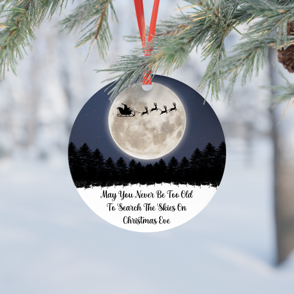 Search The Skies Ceramic Ornament