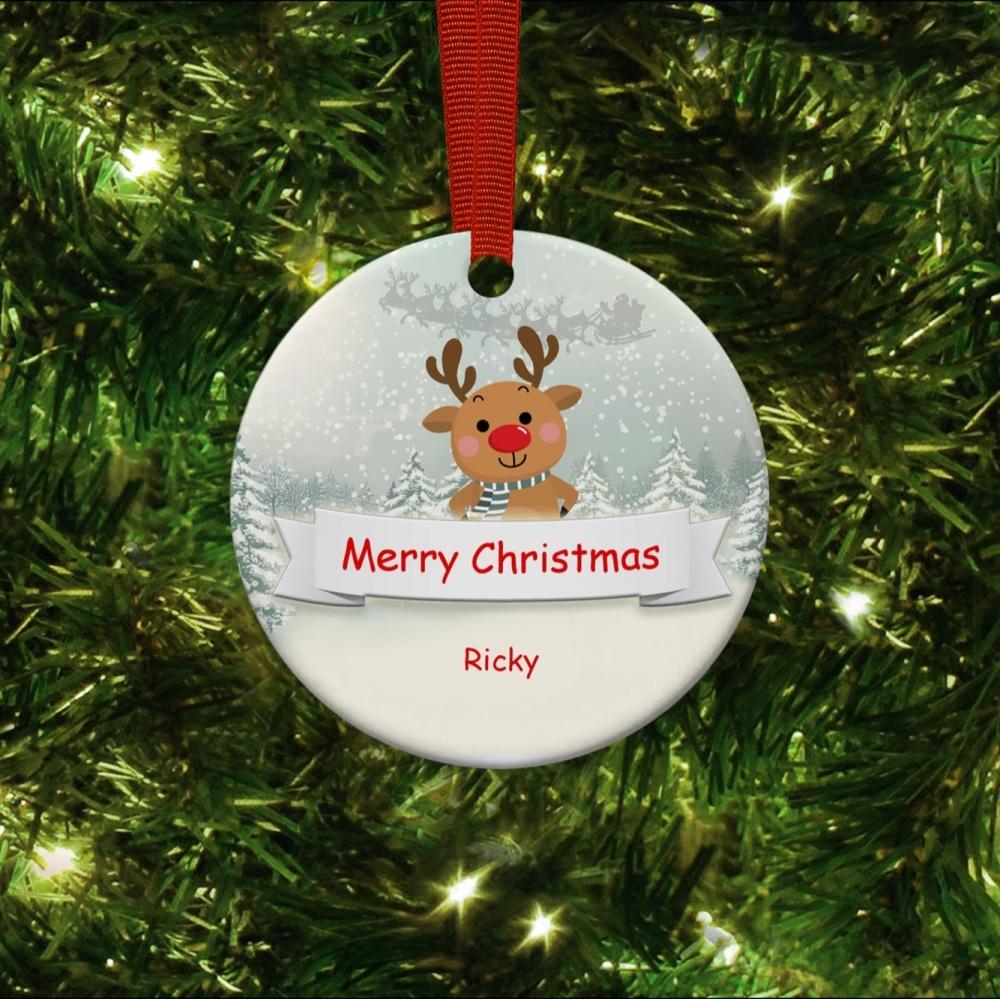 Lock Down Reindeer 2020  - Ceramic Ornament