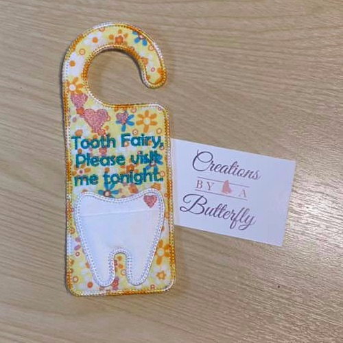 Floral Tooth Fairy Door Hanger
