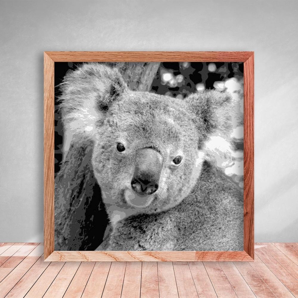 Layered Paper Cutting Template - Koala 2 - 8 layers