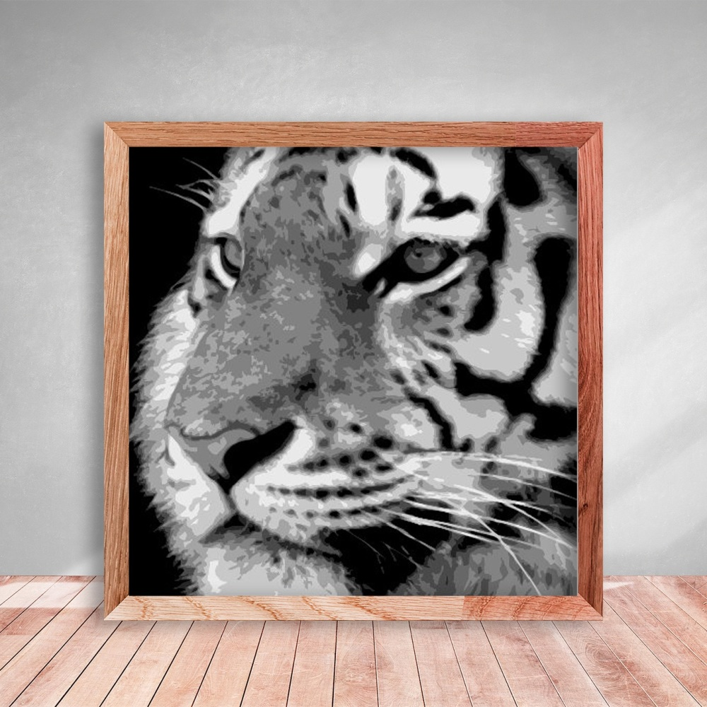 Layered Paper Cutting Template - Tiger 1 - 8 layers