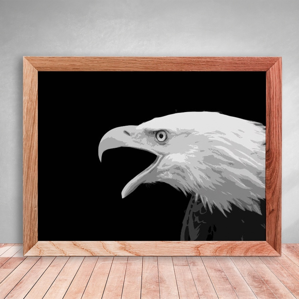 Layered Paper Cutting Template - Bald Eagle - 8 layers