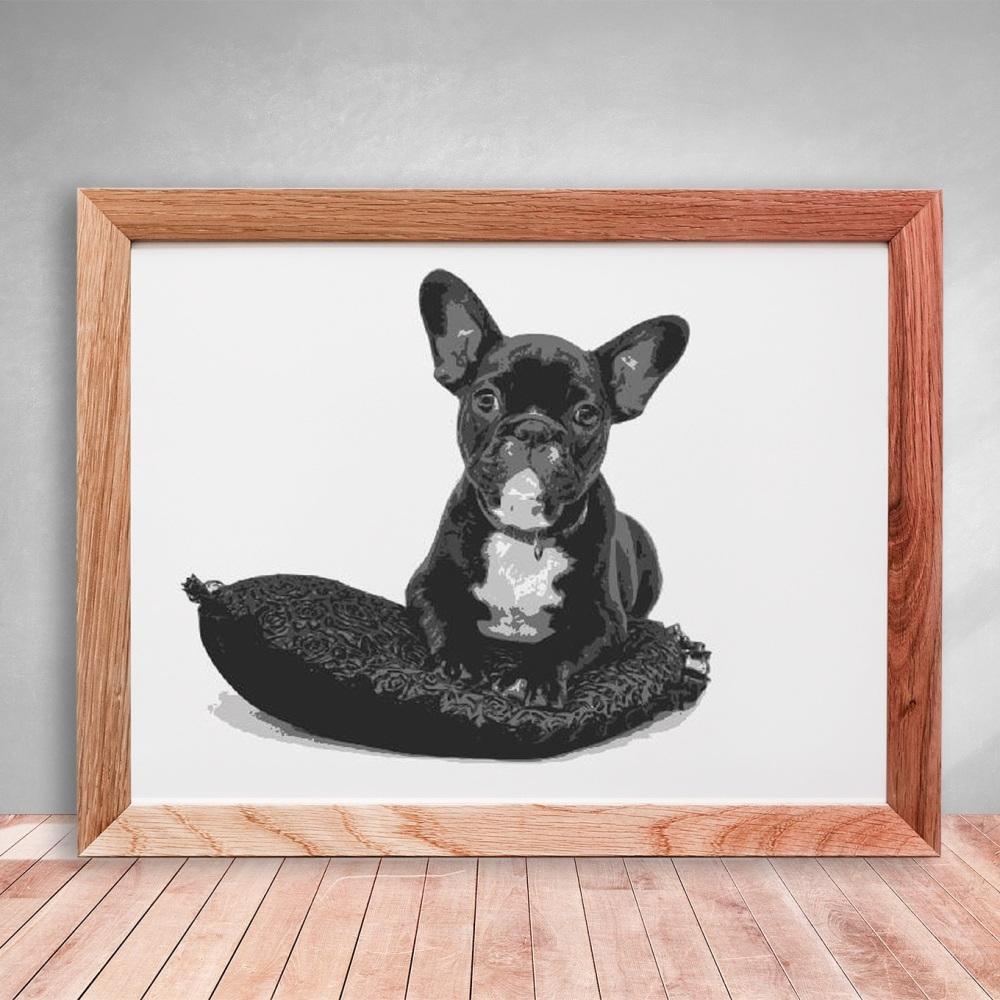 Layered Paper Cutting Template - 'Bulldog' 5 layers