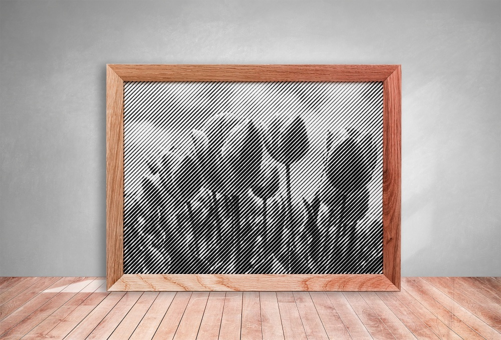 Tulips Half Tone Paper cut **Commercial Use**