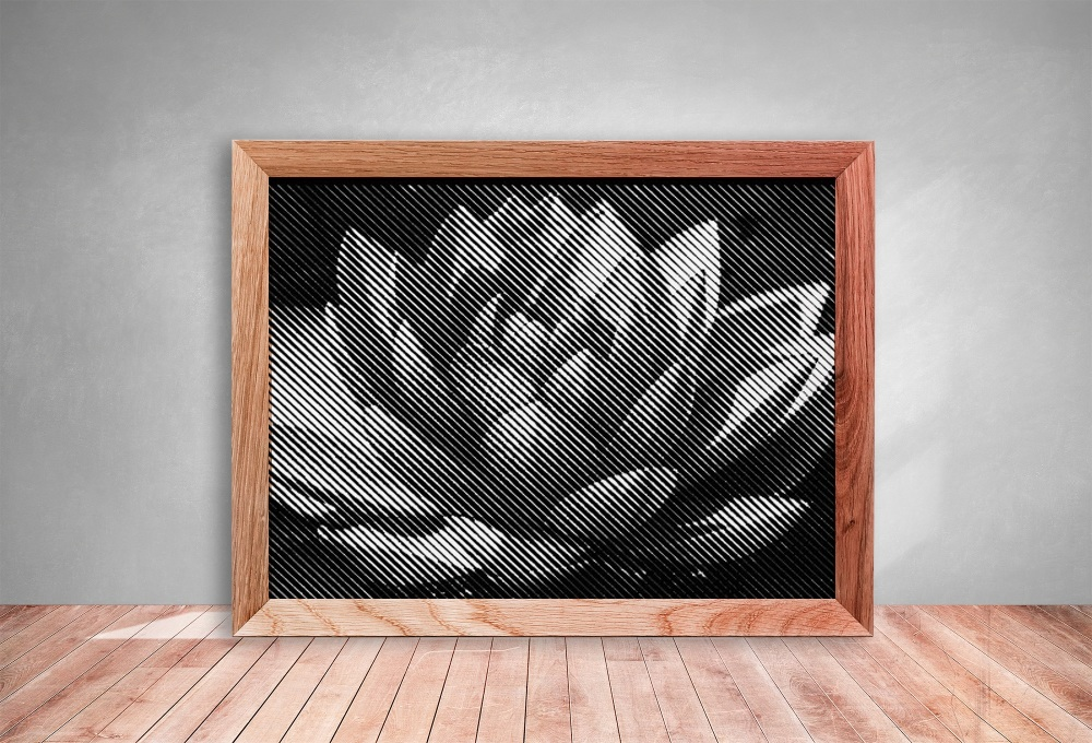 Water Lily Half Tone Paper cut **Commercial Use**