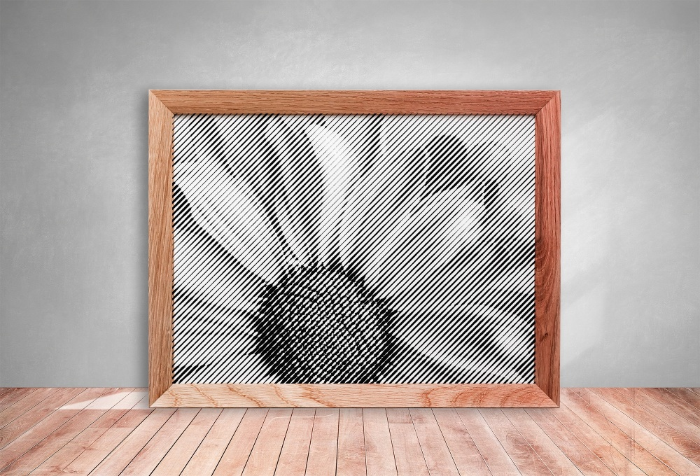 Daisy Half Tone Paper cut **Commercial Use**
