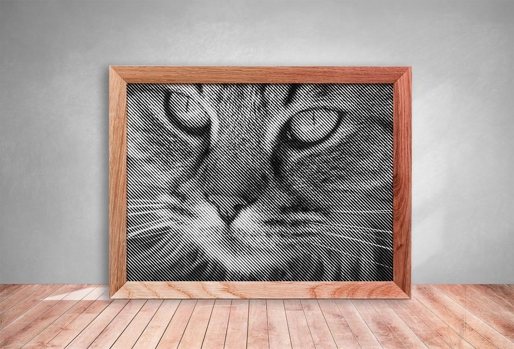 Cat '1' Half Tone Paper cut **Commercial Use**