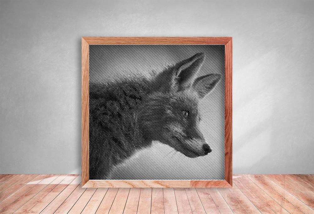 Fox Half Tone Paper cut **Commercial Use**