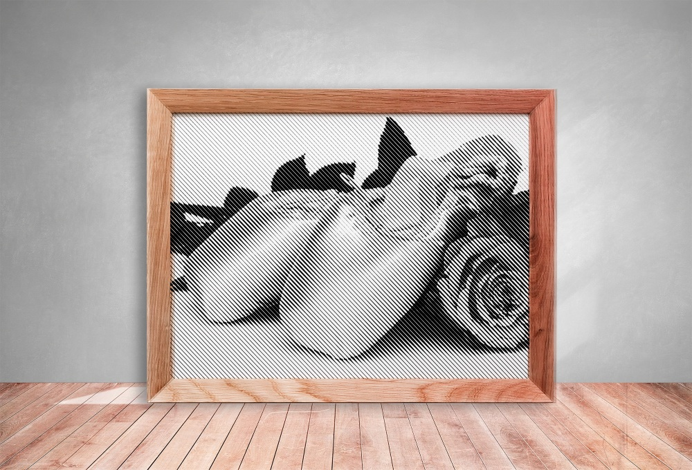Pointe Shoes with Boquet Half Tone Paper cut **Commercial Use**