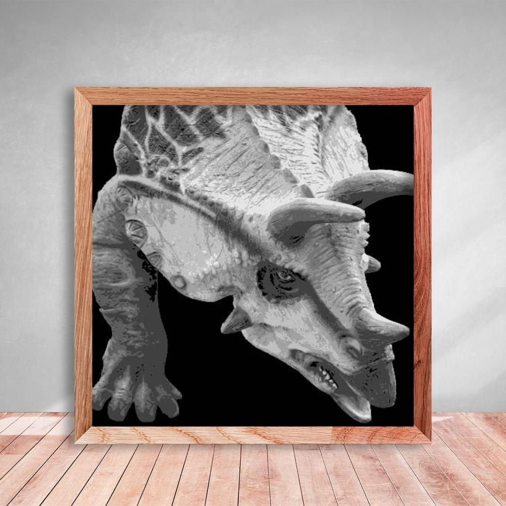 Layered Paper Cutting Template - Dinosaur 2 - 8 layers