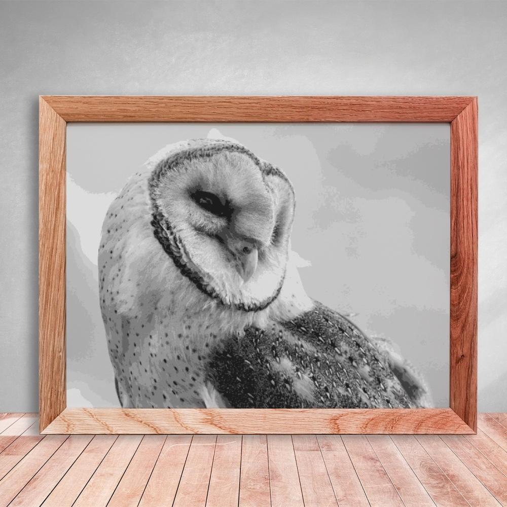 Barn Owl Layered Paper Cutting template