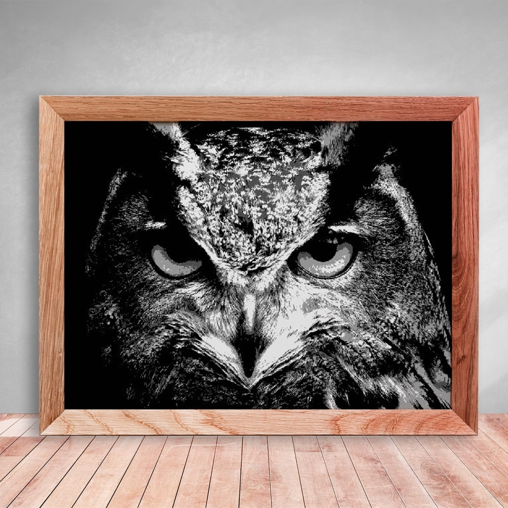 Eagle Owl Layered Paper Cutting template