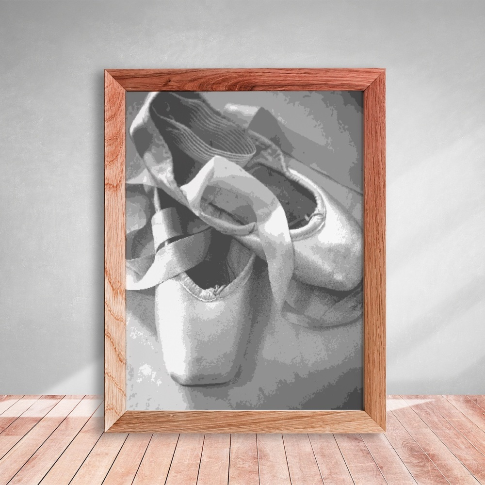 Layered Paper Cutting Template - Pointe Shoes 3 - 10 layers