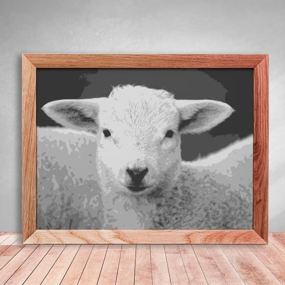 Lamb Layered Paper Cutting template