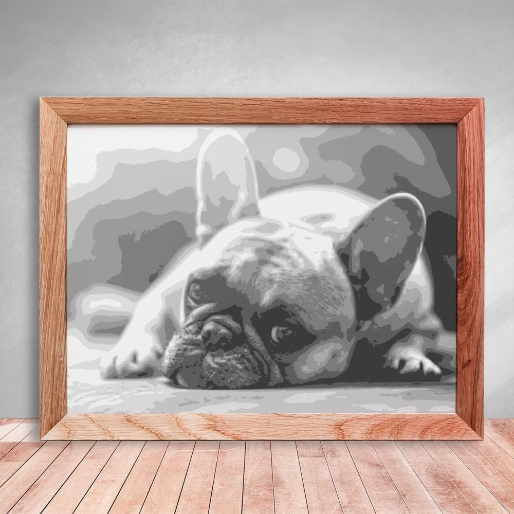 Layered Paper Cutting Template - 'French Bulldog' 8 layers