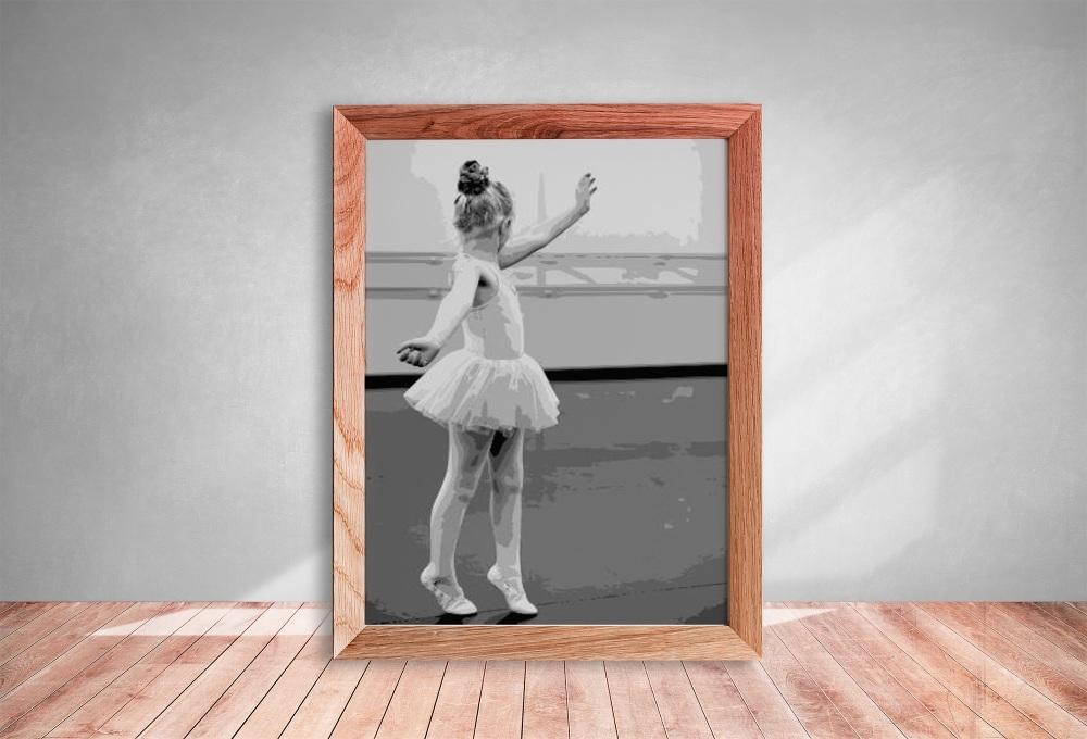 Layered Paper Cutting Template - Little Ballerina 2 - 8 layers