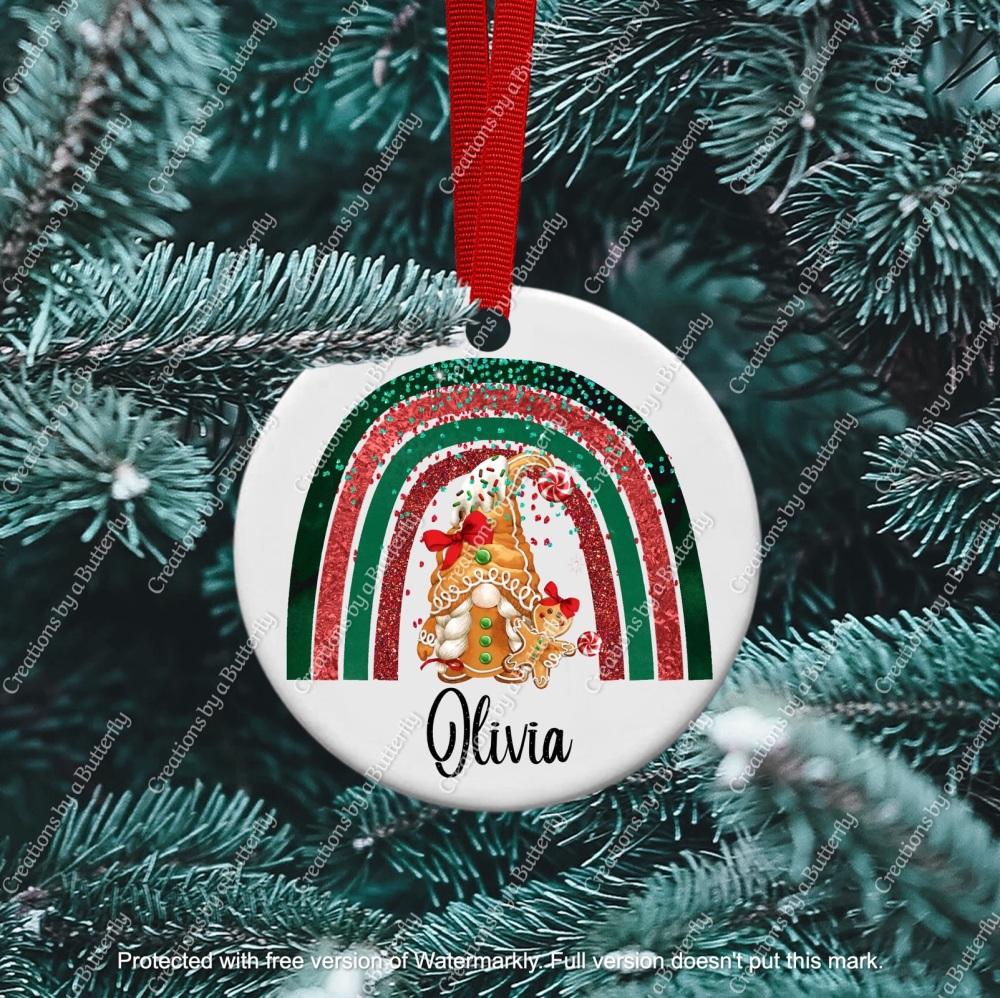 Gnome 11 Christmas Ceramic Ornament