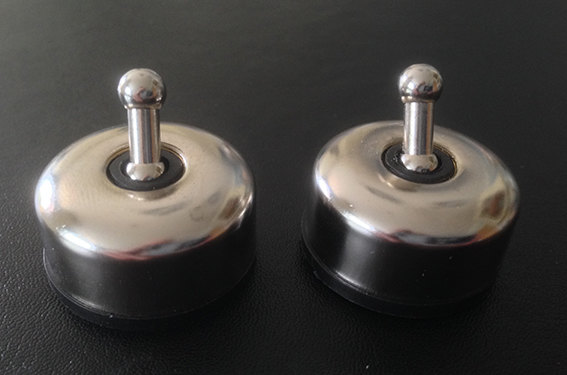 2 Pack Mini Metal Toggle Switches