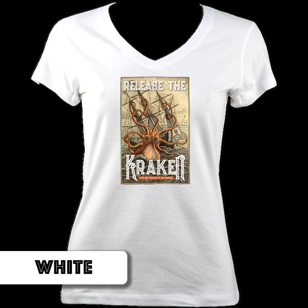 Kraken  Ladies V Neck T-Shirt