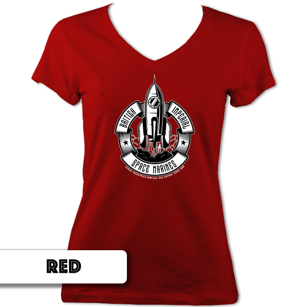 Space Marines Ladies V Neck T-Shirt