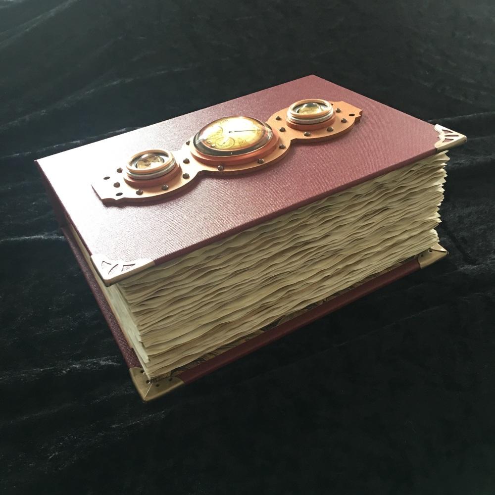 Claret Red Steampunk Handmade Journal