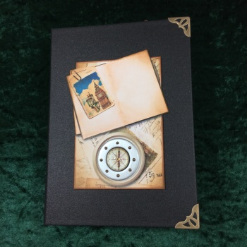 Steampunk Grand European Tour Travelers Note Book (Black)