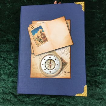 Steampunk Grand European Tour Travelers Note Book (Blue)