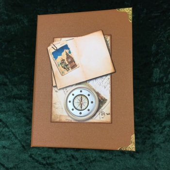 Steampunk Grand European Tour Travelers Note Book (Light Tan)