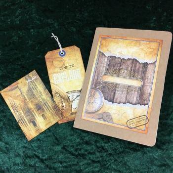 Steampunk Grand Tour Travelers  Note Book (squared paper) Refill