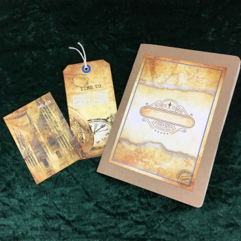 Steampunk Grand Tour Travelers  Note Book (lined paper) Refill
