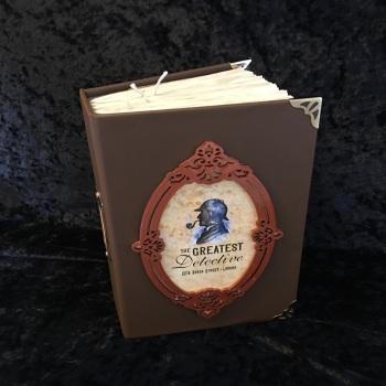 "Chocolate Brown ""The Greatest Detective""  Handmade Journal"