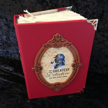 """Diplomatic Red  """"The Greatest Detective""""  Handmade Journal"""