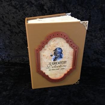 "Tan  ""The Greatest Detective""  Handmade Journal"