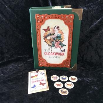 """Victorian Green """"The Clockwork Garden"""" Handmade Journal"""