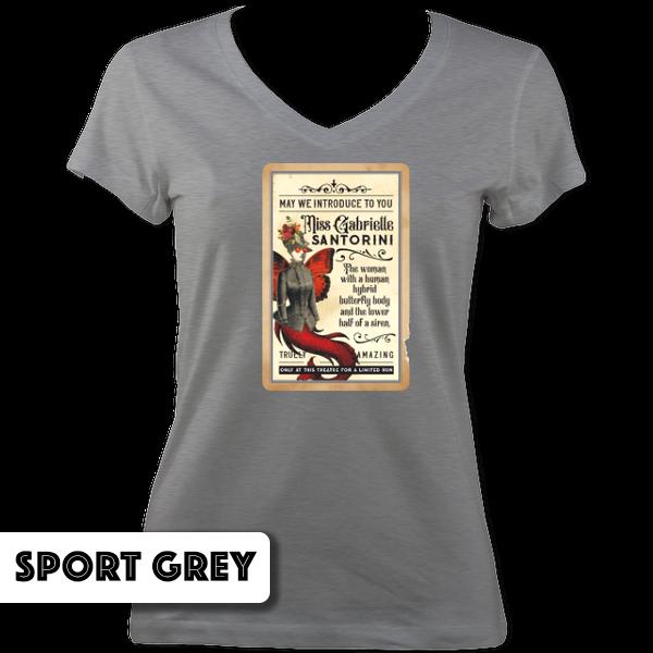 Miss Gabrielle Santorini V Neck T-Shirt