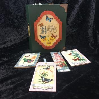 """Field Notes Green """"Butterfly Ball"""" Handmade Journal"""