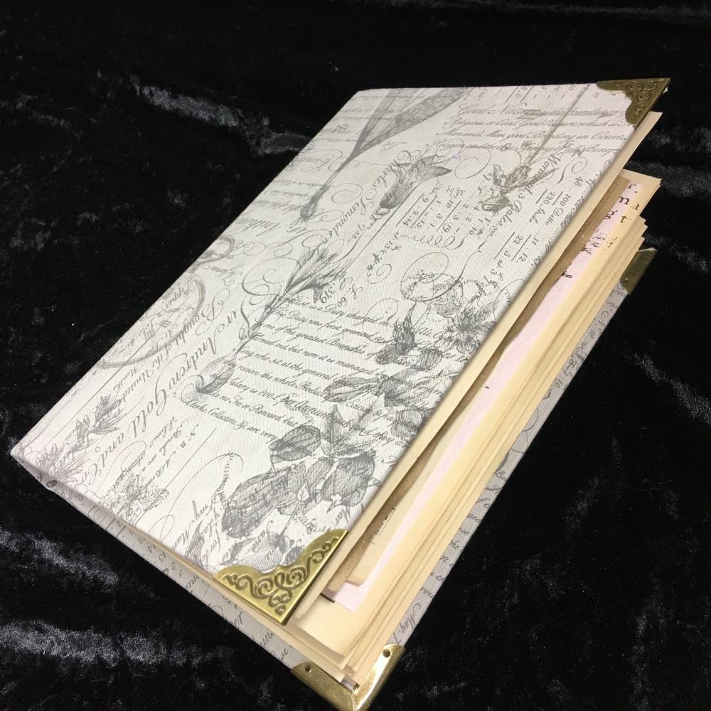 Grey Vintage Script & Floral Junk-ish Journal