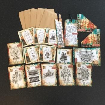 Vintage Steampunk Ephemera Set