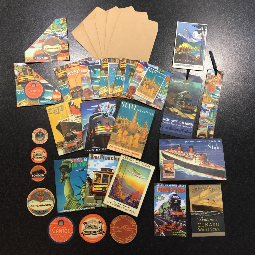The Golden Age of Travel Vintage Ephemera Set
