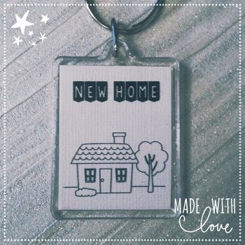 'New Home' Keyring