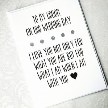 To My Groom On Our Wedding Day - Personalised