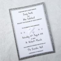 Wedding Glitter Edge Invitation