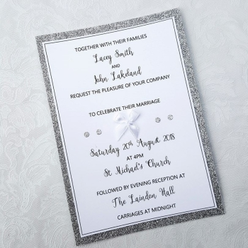 Wedding Glitter Edge Invitation