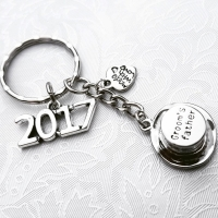 Wedding Top Hat Keyring