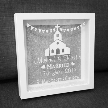 Church Wedding Personalised Box Frame