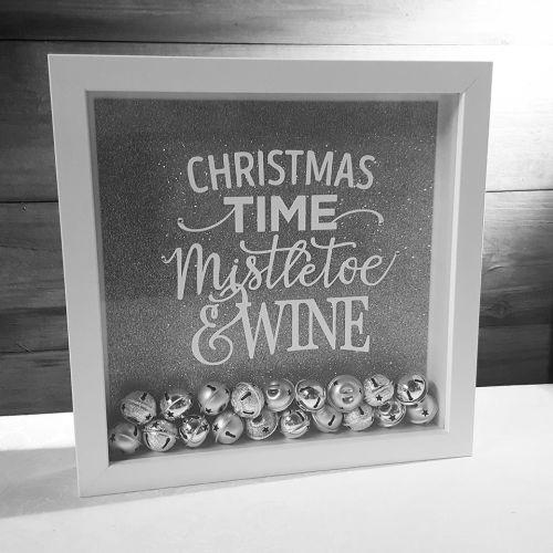 Christmas Time Silver Bells Frame